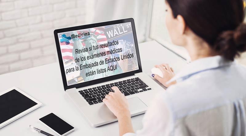 Revisa si tus resultados del examen médico para la Embajada de Estados Unidos están listos