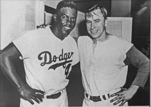 Jackie Robinson and Pee Wee Reese
