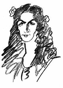 Caruso's caricature of Amelita Galli-Curci