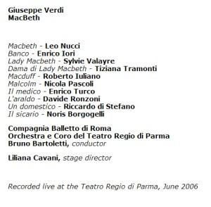 Macbeth Parma 2006