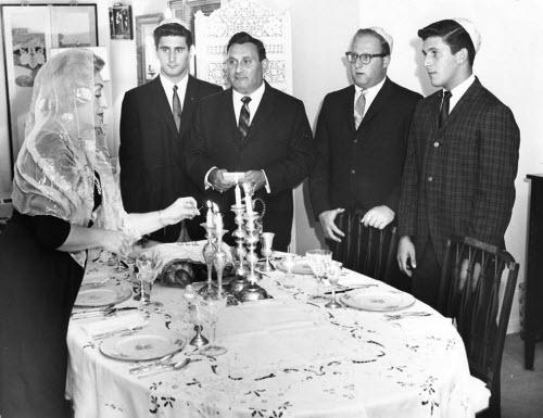 Tucker family observing Rosh Hashanah