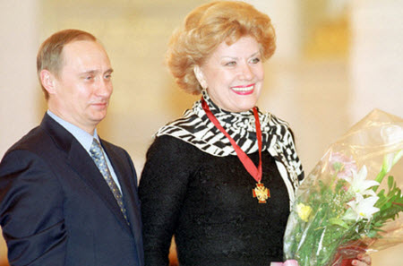 Obrtztsova with Vladimir Putin