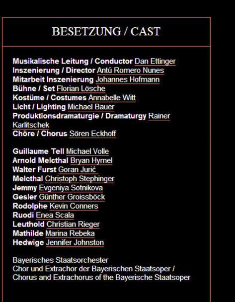 William Tell cast June 2014