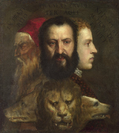 The Allegory of Age Governed by Prudence Titian age 82