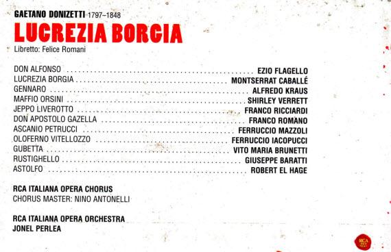 Lucrexia Borgia Cast