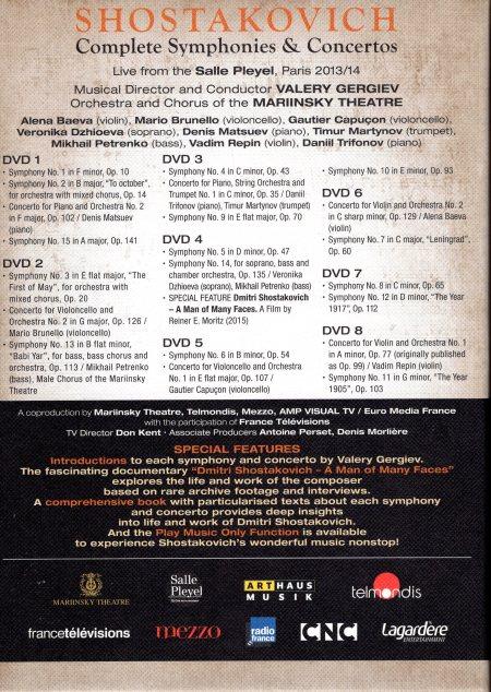 Shostakovich DVD back