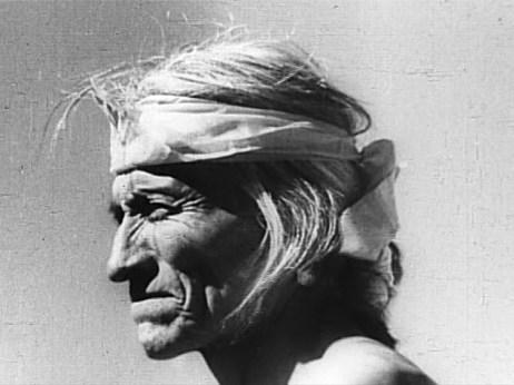 A older man in profile.