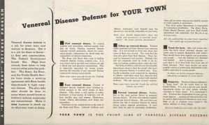Pages from a United States Public Health Service pamphlet.