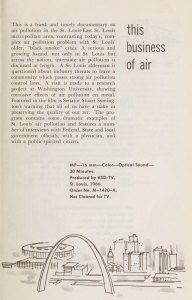 Page of a pamphlet advertising a film called This Buisiness of Air.