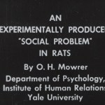 Title screen for An experimentally Produced Social Problem in Rats