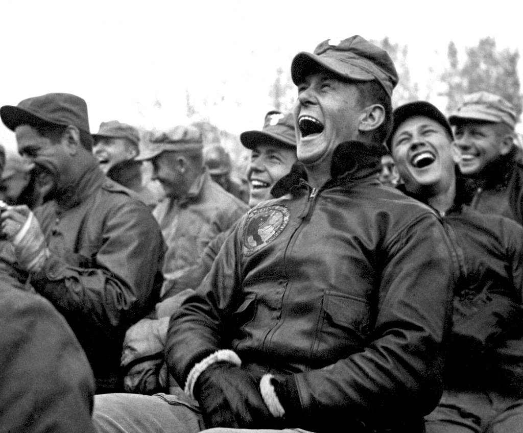 Image result for Images old soldiers laughing
