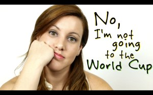 """ScreenCap of Carla Dauden's video """"No, I'm not going to the World Cup"""""""