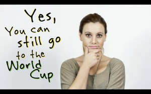 "ScreenCap of Carla Dauden's video ""Yes, you can still go to the World Cup"""