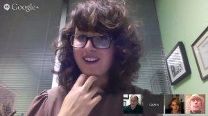 Jen Hutton in a Google Hangout
