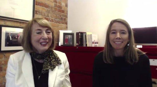 screencap of video interview between Cathy N. Davidson & Sheryl Grant