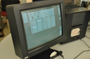 photo of NeXT computer and monitor