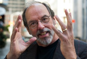 photo of Ward Cunningham gesturing with his hands.