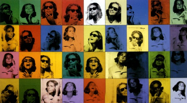 color photo of Andy Warhol's 36 canvas painting Ethel Scull 36 times
