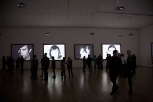 photo of Andy Warhol Films installation at MOMA in New York
