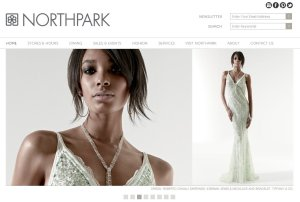screen cap of NorthPark Center's web home page.