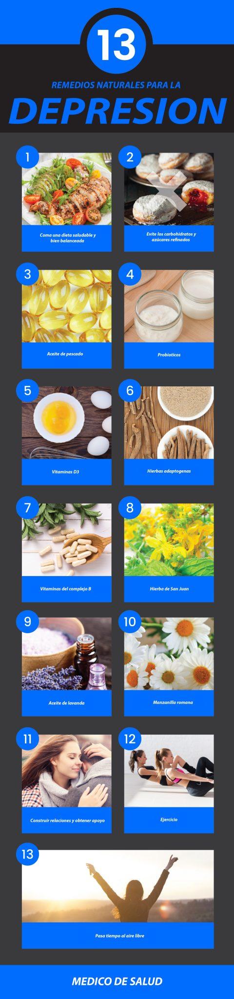 13 remedios naturales para la depresión 13 remedios naturales para la depresión 13 remedios naturales para la depresión Depression Remedies Graphic 01