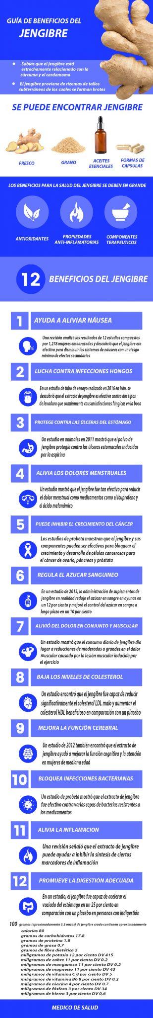 12 ventajas principales del jengibre para el cuerpo y el cerebro 12 ventajas principales del jengibre para el cuerpo y el cerebro 12 ventajas principales del jengibre para el cuerpo y el cerebro Benefits of Ginger graphic