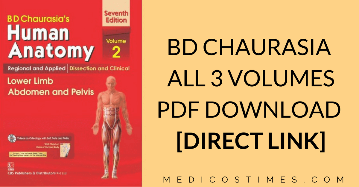 BD Chaurasia Human Anatomy PDF Free Download [All Volumes] | Medicos ...