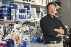 Alysson Muotri in his lab and office at Sanford Consortium in La Jolla, California on Tuesday May 14, 2013. Photograph by David Ahntholz https://www.twopointpictures.com https://www.davidahntholz.com
