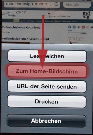Webseiten als Apps auf iPhone HomeScreen speichern (3/5)