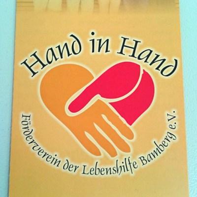 Hand in Hand - Förderverein der Lebenshilfe Bamberg e.V.: Der Falzflyer im geschlossenen Endformat