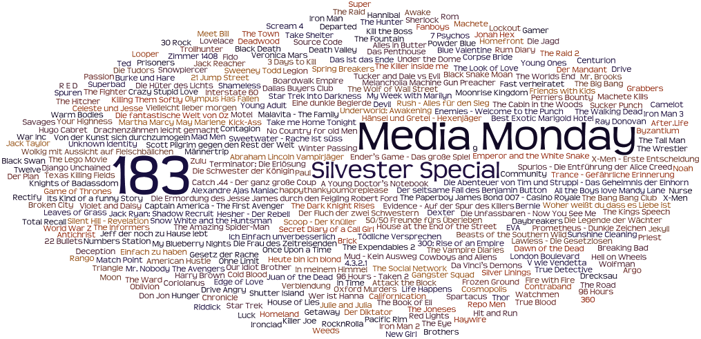 Media Monday #183 - Silvester-Special