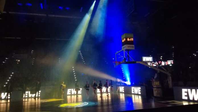 Mediennerd beim Basketball bei den EWE Baskets Oldenburg
