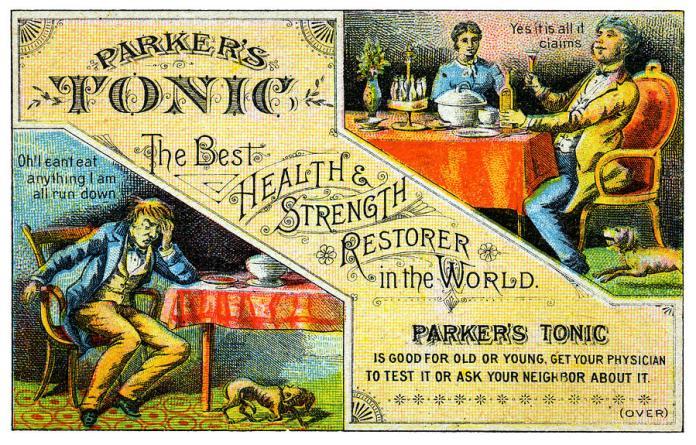 Fake medicines, tonics and potions