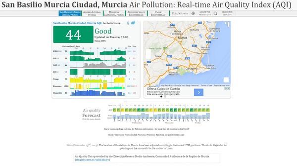 mapa de la contaminación en el planeta en tiempo real d