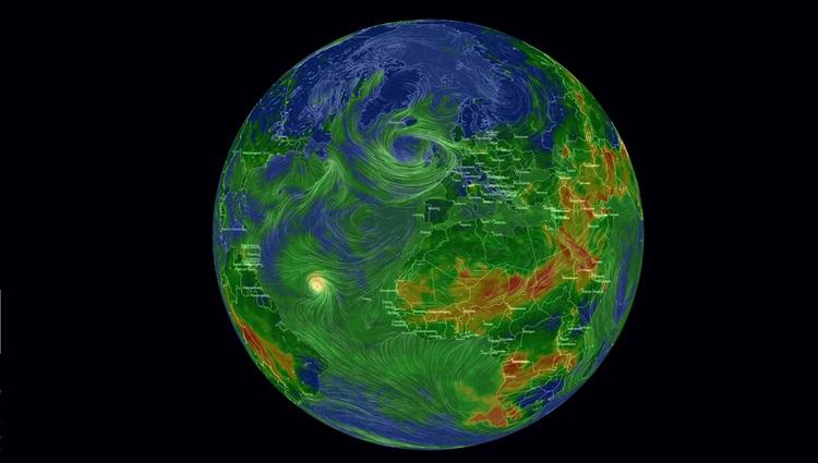Mapa interactivo de la contaminación mundial en tiempo real