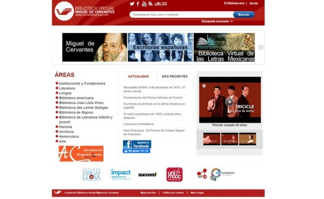 Biblioteca Virtual Miguel de Cervantes Descargar libros y eBooks gratis