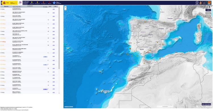 Mapas interactivos de movimientos sísmicos - Terremotos y tsunamis