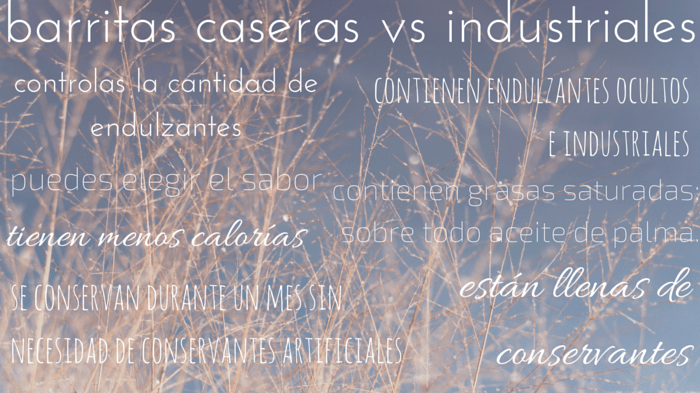barritas caseras vs industriales