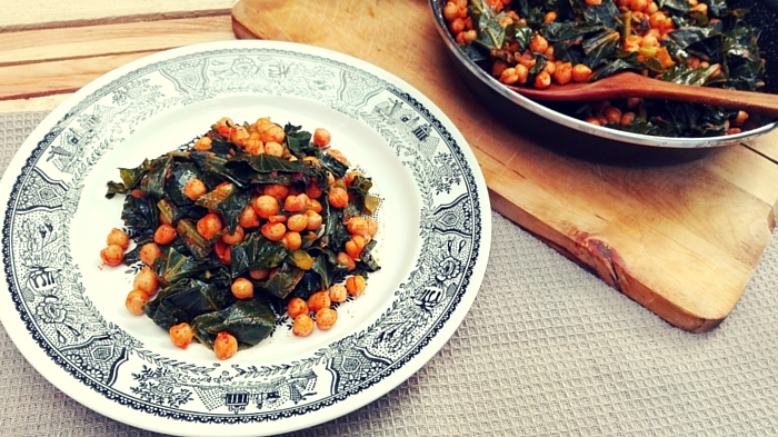 garbanzos vegan verdura
