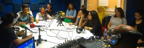 Estudio de radio de Onda Merlín