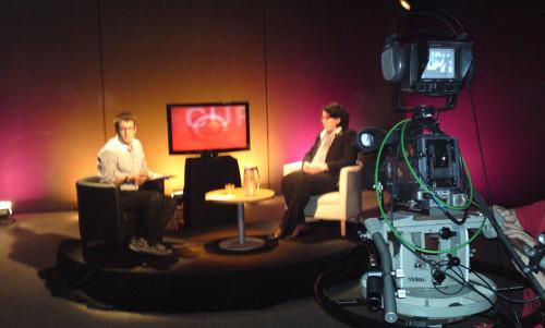 Entrevista en el set de RTV Cardedeu (Barcelona)