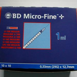 Insulin Needles with Syringes (1ml)