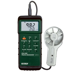 Anemómetro de paletas metálicas CFM para trabajos pesados