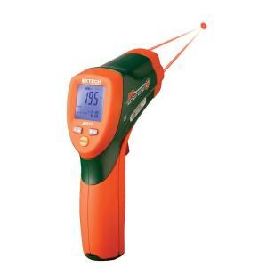 42511: Termómetro de infrarrojos de doble láser Termómetro de infrarrojos 12:1 de respuesta rápida con pantalla LCD retroiluminada doble