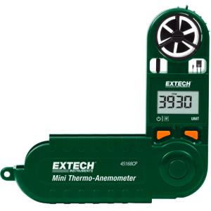 Minitermoanemómetro con brújula incorporada