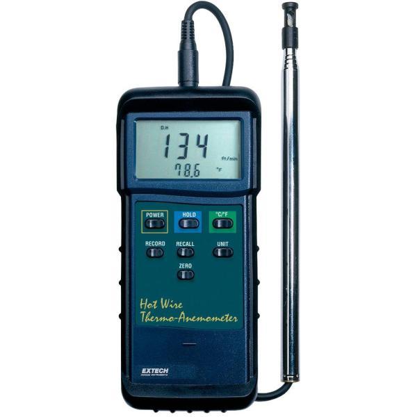 Termoanemómetro de hilo electrocalentado de gran capacidad