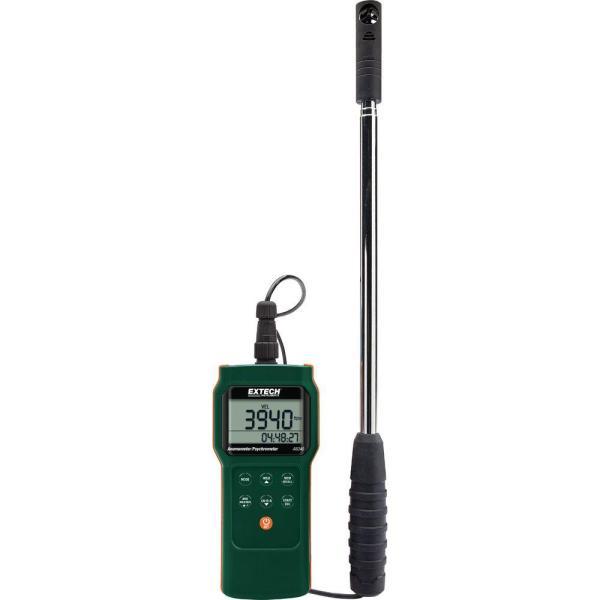 Registrador de datos de sicrómetro/anemómetro CFM/CMM