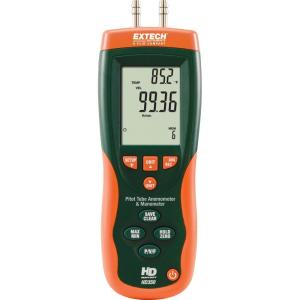 Anemómetro de tubo de Pitot + manómetro diferencial