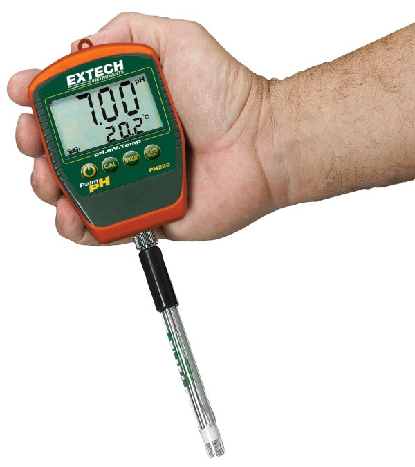 Medidor Palm pH a prueba de agua con temperatura