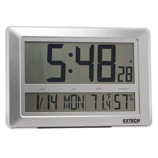 Higrotermómetro con reloj de pared controlado por radio